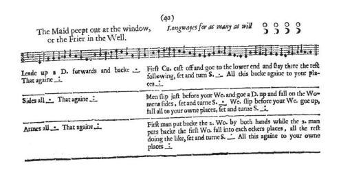 John Playford English Dancing Master 1651 page 42.jpg