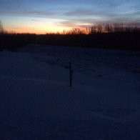 2020 01 07 cold sunrise on Hardy's Hill -22 C or 8 below 0 F