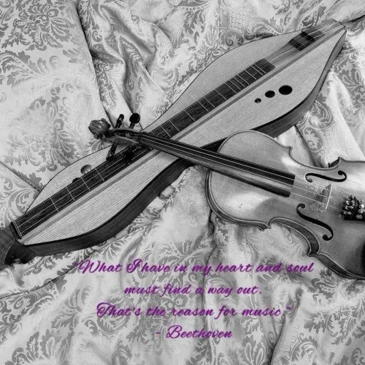 Doug Berch Dulcimer with Grandpa's Fiddle
