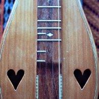 long hearts, partial frets, cedar, by BillBirmingham, May'83