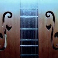 f-holes and hearts, 8 string by DavidField, Glassboro NJ