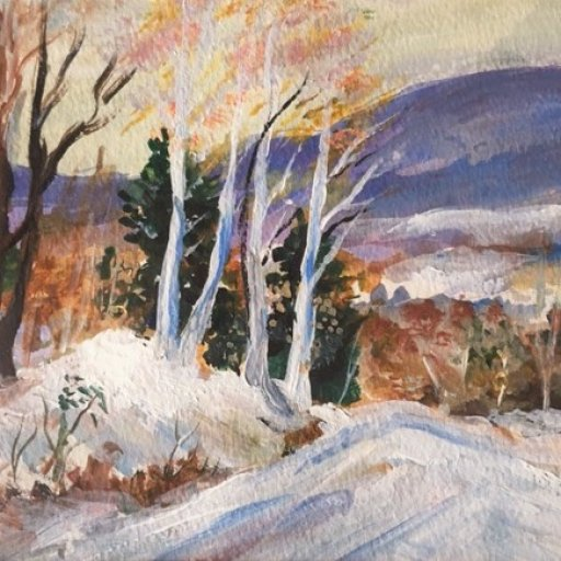 Dad's winter scene