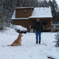 Phil and Ellie in Snow