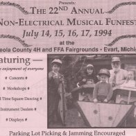 Part of the flyer for the 22nd Annual Funfest , presented by the Original Dulcimer Players Club, held at Evart, MI