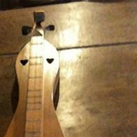 sewing dulcimer back inlay