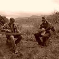 Robin and Nick at Bwlch Y Gwynt - Looking to Cader Idris