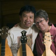 Upclose with three dulcimers