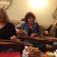 Joellen Lapidus at a jam session in California
