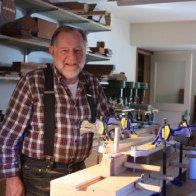 Howard Rugg in his workshop