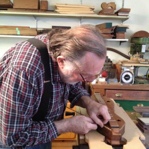Howard Rugg building me a dulcimer