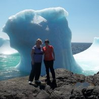 5 feet from an iceberg, St. Anthony, Newfoundland, 75 degree air temp