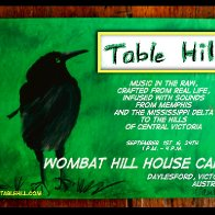 Table Hill at the Wombat Hill House Cafe