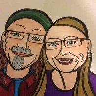Drawing of Adrian & Carla