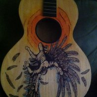 Icarus guitar artwork