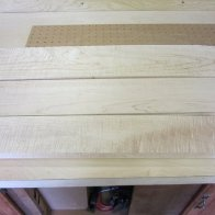 planed curly maple