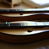 Two Hennessy dulcimers side by side