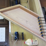 Curly maple side rail