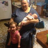 Grandma and her 2 precious grandchildren