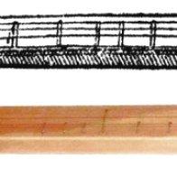Scheitholt - inspired by the illustration of Praetorius
