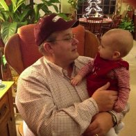 "I'm now a ""Papaw""; 1st Christmas together 2012"