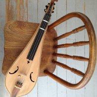 4-string fretless Pardessus bowed dulcimer
