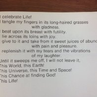 Jean Ritchie's poem I Celebrate Life, the last work that Pete Seeger recorded before his death