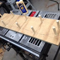 Gluing the Bending Pegs
