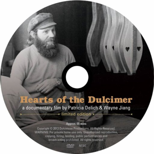 Disc design for Hearts of the Dulcimer DVD