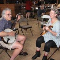 Lisa and Tim banjos 2014