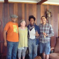 Bones Lesson at my house with Dom Flemons