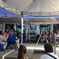Mini Blues Festival in front of Cat Head Delta Blues & Folk Art