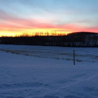 Sunrise on Hardy's Hill Feb 7 2016
