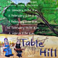 Table Hill --Radio Springs Dates for Jan-Mar, 2017