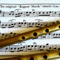 Brass penny whistles