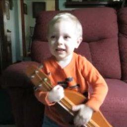 Make a Joyful Noise - Jaxson's 1st tune - Thanksgiving Day 2014